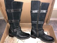 Women's ARIAT Black HIGHLAND Riding Boots Size US 6 B Med Width
