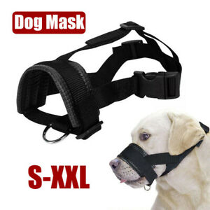 Nylon Adjustable Pet Dog Bark Bite Soft Mouth Muzzle Grooming Anti-Chewing