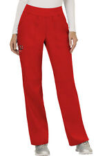 Scrubs Cherokee Workwear Mid Rise Pull On Pant Ww110 Red Red Free Shipping