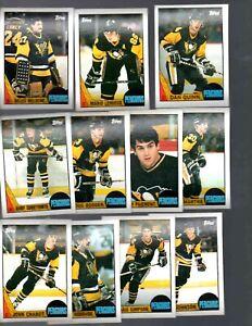 1987-88 TOPPS PITTSBURG PENGUINS TEAM SET  (11 CARDS)