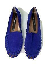 MATT BERNSON - Women's Mezcal Flat Loafers Suede Leather Cobalt Blue - Sz 7