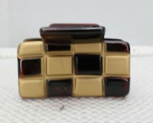 Caravan Checker Board Hair Claw & French Gold Lace Style Hair Claw T3