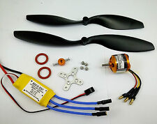 K041wpK:1 set BL motor KV1370, ESC & 2 Props(8043,9047) FW:750g for RC Airplane