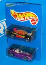 Hot Wheels Early 1990s Blue Card 2 Pack Flashfire & Silhouette II
