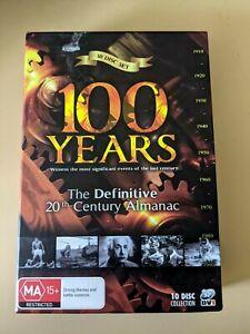 100 Years: The Definitive 20th Century Almanac 10 Disc Box Set Region 4 DVD