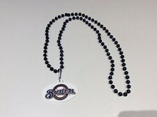 """MLB Milwaukee Brewers Beaded Necklace! Approx. 18"""" in length"""