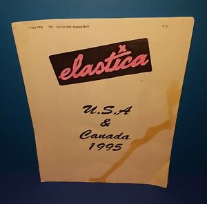 ELASTICA ( FEB - MARCH ) 1995 USA & CANADA TOUR ITINERARY  21 PAGES