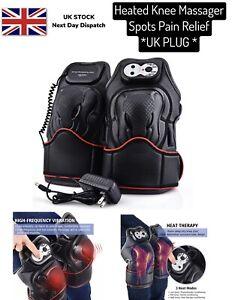 Knee Massager Double Heated Vabration Knee Brace Wrap Arthritis Pain Relief UK