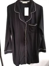 New Look Black Ladies soft jersey Night Shirt Size 10 ref cl10