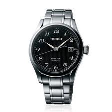 Seiko JAPAN Made Presage Karesansui Black Men's Stainless Steel Watch SPB065J1