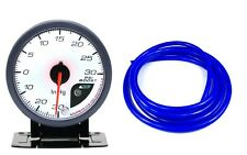 60mm Boost Gauge PSI Mini Cooper S JCW Turbo Blue Hose