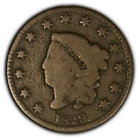 1829 1c Coronet Head Large Cent - Better Date - SKU-Y2408
