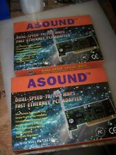2) NEW ASOUND #PG1C2112036 Dual Speed 10/100 MBPS Ethernet PCI Adapter LOT OF 2