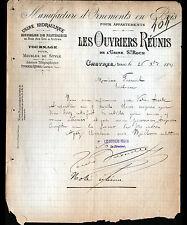"""CASTRES (81) USINES d'ORNEMENTS en BOIS / MEUBLES """"LES OUVRIERS REUNIS"""" en 1891"""