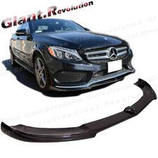 VR Style Carbon Fiber Front Spoiler Lip 15+ BENZ W205 4DR C250 Sport AMG Bumper