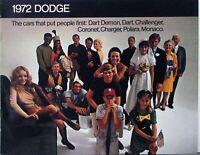 1972 Dodge Dart Challenger Coronet Charger Polara Monaco Sales Brochure Original