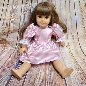 """American Girl 18"""" Doll Pleasant Company Brown Hair Bangs Brown Eyes"""