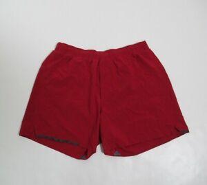 """Lululemon Men's Surge Short 5"""" Color Cranberry Size M Stretch"""
