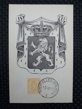 BELGIEN MK 1945 WAPPENLÖWE MAXIMUMKARTE CARTE MAXIMUM CARD MC CM a6663