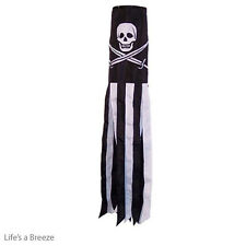 Pirate Windsock. For Telescopic Flag Poles.  Calico Jack 40 Inch EMBROIDERY MADE