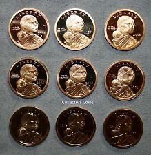 2000 - 2008 Sacagawea Native American 9 Coin Gem Proof Collection
