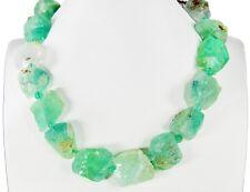 Precioso Cadena de Piedras Verdes Fluorita Roh-Steinen Talla Pepitas