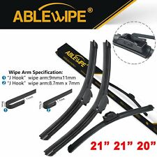 "ABLEWIPE 21""+21""+20"" Fit For Audi 200 Quattro 1991-1989 Front Rear Wiper Blades"
