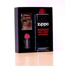 Original Zippo Feuerzeug Benzin Starter Set  mit  Foto Gravur / Fotogravur
