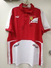 Scuderia Ferrari double signed polo shirt Sebastian Vettel Puma