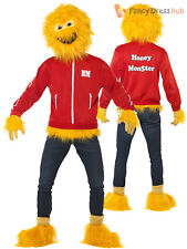 Mens Honey Monster Costume Adults Sugar Puffs Fancy Dress 80s 90s Retro Outfit