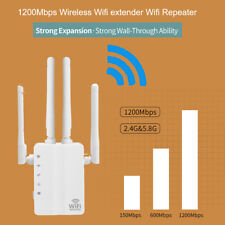1200Mbps WiFi Wireless Repeater Range Signal Booster Extender Dual Band Outdoor
