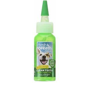 TropiClean Fresh Breath | Clean Teeth Gel | Minty Flavor | For Dogs 2 Ounces