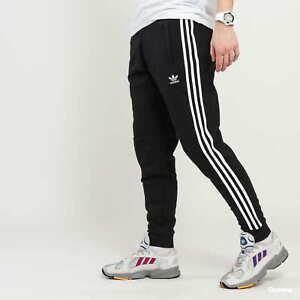 Adidas Mens 3 Stripes Cuffed Trefoil Tracksuit Bottoms Jogging Pant ED6024