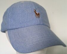 444ea99a6 Polo Ralph Lauren Men's Cotton Oxford Baseball Cap Hat Light Blue P10