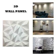 32sq ft Pvc 3D Wall Panel Decor Tiles/Brick Diamond Design Diy Sticker 12pcs/set