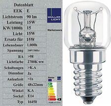 Sonderposten 15W Backofenlampe 300° geprüft Glühbirne Glühlampe E14 Birne 16450