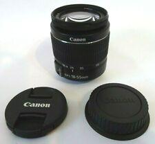 Canon EF-S 18-55mm f3.5-5.6 III standard Zoom Lens + original caps Very Good