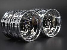 Tamiya 1/14 Trailer Rear Wheels New Electroplating wheels For Scania R620 56323