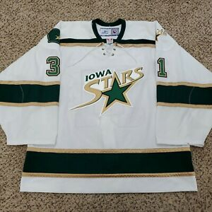 Reebok Iowa Stars Tobias Stephan Signed Authentic Ice AHL Hockey Jersey Size 58
