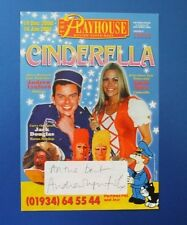 THEATRE FLYER CINDERELLA SIGNED BY ANDREW LYNFORD [ EASTENDERS ]