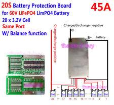 60V 45A LiFePo4 Battery BMS LFP PCM SMT System 20S 20x 3.2V eBike Battery 20x 3V