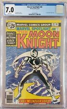 Marvel Spotlight 28-7.0 CGC Graded! 1st Moon Knight Solo series🔥🔥WHITE PAGES