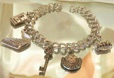 Neat Vintage 70's-80's TOPS Weight loss Charm Bracelet 500JL6
