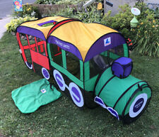 Vintage Playhut Easy Pop Up Fort Train Engine No. 7 Caboose & Tunnel Tent 1998