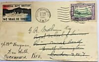 S. RHODESIA 1941 cover Umtali to Scotland with very rare `Rhodesia buys British`