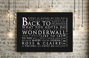 PERSONALISED GIFT | Oasis Wonderwall Song Lyrics | CANVAS WRAP