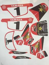 kit deco adhesif moto cross pour piwi Yamaha PW50 PW 50 Rouge Qualité Standard