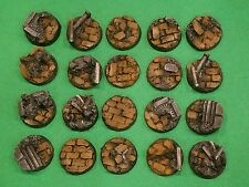 Warhammer 40K 25mm Resin Rubble Base Set (20)