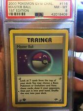 2000 Pokemon Gym Challenge ' Master Ball ' 1st Edition PSA 8 NM-MT