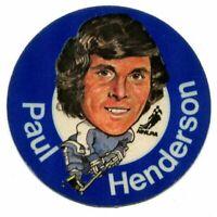 1973/74 Mac's Milk Paul Henderson Cloth Sticker Toronto Maple Leafs